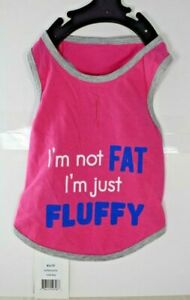 """Bailey & Bella Couture -""""I'm Not Fat I'm Just Fluffy"""" T-Shirt (Pet/Dog) XS"""