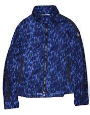 Moncler New Leopard Print Blue Jacket Mens Large Size 3 Zip Coat Grenoble