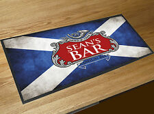 Personalizado Bandera Escocesa Rojo Y Plata Etiqueta de cerveza Toalla Bar