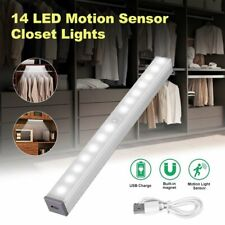 14Led Motion Sensor Closet Light Cabinet Stairs Step Night Lamp Usb Rechargeable