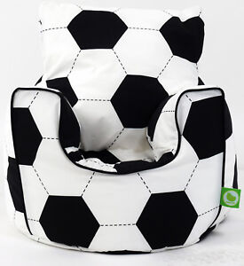Cotton Football Bean Bag Arm Chair with Beans Toddler Size From Bean Lazy