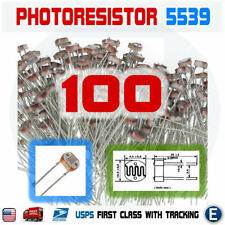 100PCS 5539 5MM 30K-90K Photoresistor Light-Dependent Resistor Sensor GL5539 USA