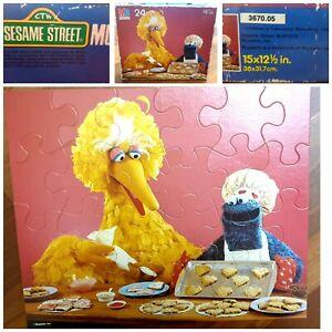 1985 Complete Vintage Sesame Street Muppets Cookie Monster Big Bird Puzzle