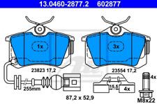 Bremsbelagsatz, Scheibenbremse für Bremsanlage Hinterachse ATE 13.0460-2877.2