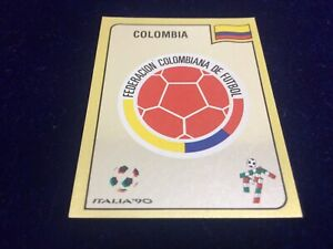 Panini Italia 90 World Cup Football Sticker Colombia Badge Number 286