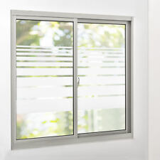 [casa.pro]® Sichtschutzfolie Milchglas Linien - 67,5 cm x 10 m - statisch Folie