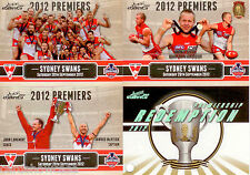 2012 Select AFL Sydney Premiership Limited Edition 3-Card Set + Redemption