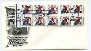2593a29c (black) Pledge of Allegiance pane onArtcraft, 6 1/2 FDC