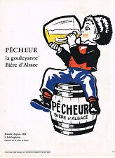PUBLICITE ADVERTISING  1962   PECHEUR   bière GOULEYANTE