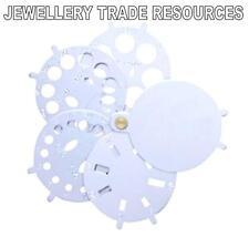 JEWELLERS JEWELLERY FAN CARAT SIZE WEIGHT DIAMOND & GEMSTONE MEASURING GAUGE