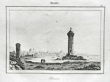 Livorno Hafen Porto Torre del Marzocco 1836 Florentiner Florenz