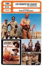 FICHE CINEMA : LES GEANTS DE L'OUEST - Wayne,Hudson,McLaglen 1969 The Undefeated