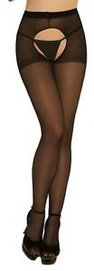 sexy ELEGANT MOMENTS sheer CROCHLESS open BACK stockings PANTYHOSE tights NYLON