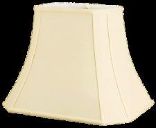Rectangle Cut Corner Silk Shantung Lamp Shade with Fabric Lining