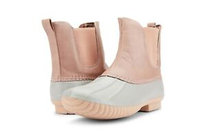 Quinn-55 Duck Women's Two Tone Combat Style Rain Duck Boots