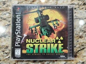 Nuclear Strike 1997 Sony PlayStation 1 PS1 Black Label Video Game  *Complete