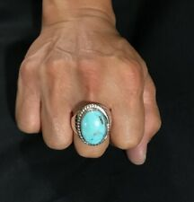 Dry Creek Turquoie 925 Sterling Silver Southwestern Men's Ring Size 12