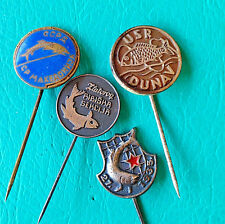 YUGOSLAVIA Various Fishing Clubs - Associationas - Lot of 4 different pin badges