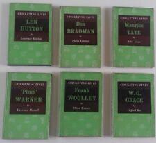 7  books. Cricketing Lives: Tate, Fry, Woolley, Hutton,Grace, Bradman, Warner