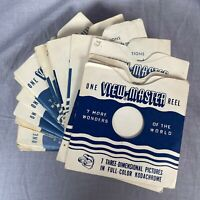 View Master Lot of 50 Empty 3 Reel Sleeves Sawyers Inc. Very Good Condition