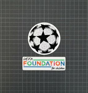 UEFA Champions League Starball & Foundation For Children Patches 2021-2022
