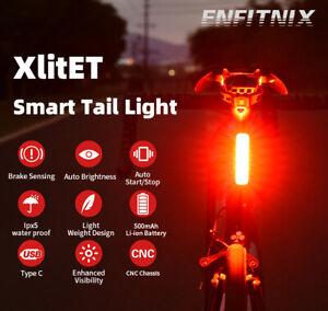 XlitET Bicycle Auto Start/Stop Rear Smart Taillight USB Charging IPX5 WaterProof