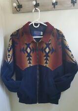 Vintage Pendleton High Grade Wool Coat Jacket Aztec Indian Print Mens L