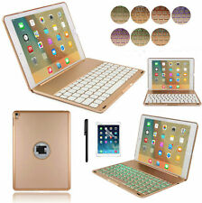 "For iPad Pro 9.7"" 7 Colors Backlit Bluetooth Keyboard Folio Case Smart Cover US"