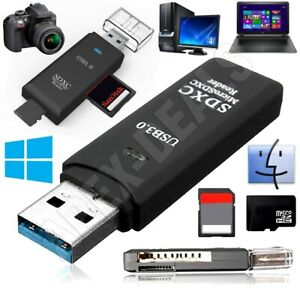 Memory Card Reader Multi USB 3.0 High Speed Adapter Flash Micro SD SDXC TF Stick