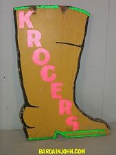 Yellow Cowboy Boot Old Shoe Advertising Trade Sign Done in Shape of Boot