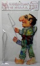 GREEK VTG KARAGIOZIS SHADOW PLAY THEATER PUPPET MOLLAS NEW IN PACKAGE