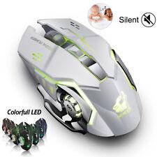 Wireless ricaricabile PC Gaming Mouse Luce LED Retroilluminazione Ergonomica