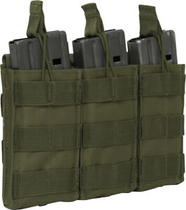 Triple Mag Pouch Open Top 30 Round Magazine STANAG Easy Access MOLLE Straps