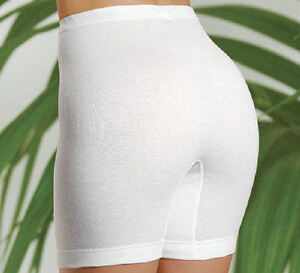 Damen Slips mit Bein Schlüpfer Langbein hoher Leib Unterhosen reine Baumwolle