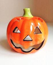 Titular de la Luz de Té Cerámica Calabaza de Halloween-Totalmente Nuevo-registrado Envío rápido