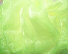 K06 PER METER Fluorescent Mirror Organza Sheer Fabric Dress/Decorative Material