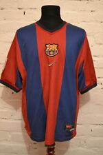 VINTAGE BARCELONA 1998/1999 HOME FOOTBALL SHIRT SOCCER JERSEY NIKE CAMISETA