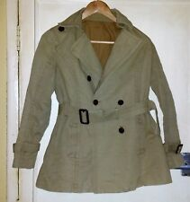 Women's Double Breasted Khaki Jacket with Belt Size 10
