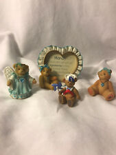 Cherish Teddies March Baby Lot with Bonus Hallmark March Figurine