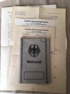 Frühe Bundeswehr Wehrpass und Dokumente 1960 Münster Westfalen