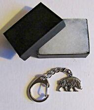 F) Key-Ring Pewter Celtic Wild Boar Swine Pig Wildlife Mammal Animal