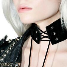 Women Sexy Rope Gothic Punk Vintage Choker Velvet Leather Necklace Jewelry party