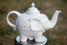 Théière vintage céramique blanche éléphant / Elephant Shaped Ceramic Tea Pot