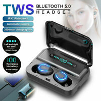 TWS Kopfhörer Bluetooth 5.0 Kabellos Stereo Mini In-Ear Mic Headset Ladebox