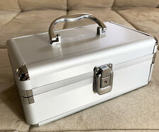 Portable Travel Aluminum Makeup/ Jewelry/ Nails Polish Storage Case (Silver)