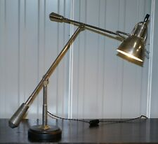 RARE LARGE ART DECO EDOUARD WILFRED BUQUET STYLE FRENCH ARTICULATED TABLE LAMP
