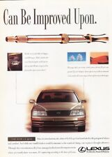 1995 Lexus LS400 2-page Advertisement Print Art Car Ad J917