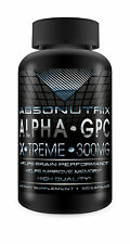 Absonutrix Alpha GPC Xtreme 300mg Nootropic Brain Memory Focus 60 Pills