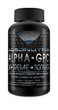 Absonutrix Alpha GPC Xtreme 300mg Nootropic Brain Memory Focus 60 Pills