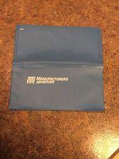 Vintage Vinyl Manufacturers Hanover Trust Co Checkbook Cover Blue